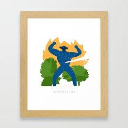 Jeeg attack Framed Art Print
