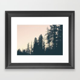 Mountainside Morning Framed Art Print