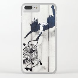 Banksy, Shop Until You Drop Clear iPhone Case