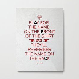 Play for the name on the front Metal Print