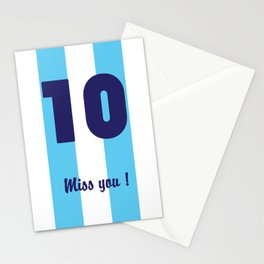 Diego Maradona - Argentina - Miss you Number 10 Stationery Cards