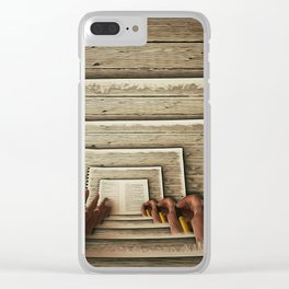 Hypnotic Workplace Clear iPhone Case