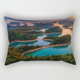 Quinn Dao Lake, China at Sunrise Rectangular Pillow