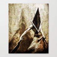silent hill Canvas Prints featuring Silent Hill Pyramid Head by Joe Misrasi