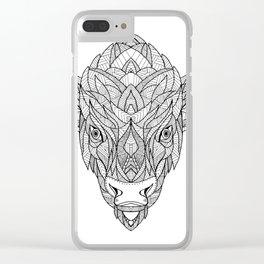 American Bison Zentagle Clear iPhone Case