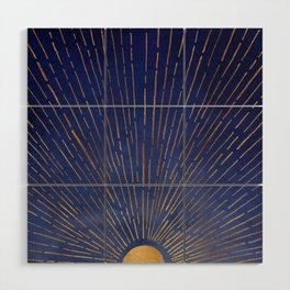 Twilight / Blue and Metallic Gold Palette Wood Wall Art