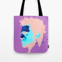 brad pitt Tote Bags featuring Brad Pitt Digital illustration by Parveen Verma