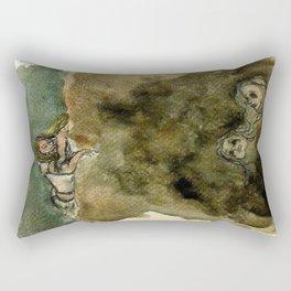 The Abyss Stares Back Rectangular Pillow