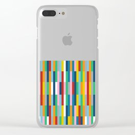 Brick Columns Clear iPhone Case