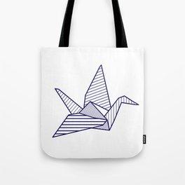 Swan, navy lines Tote Bag
