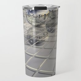 400 Silver Spheres Travel Mug