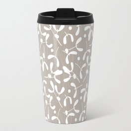 Mistletoe - Warm Gray Travel Mug