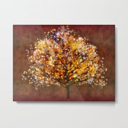 Starry Tree Metal Print
