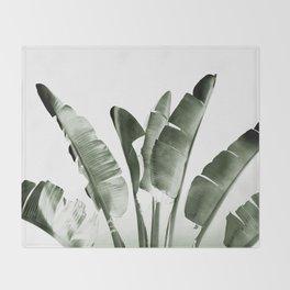 Traveler palm Throw Blanket