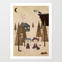 red riding hood Art Prints featuring Red Riding Hood by Liam Smith