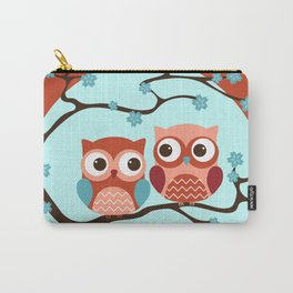Owl Be There For You - Orange Carry-All Pouch