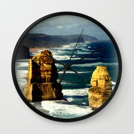 White Caps Wall Clock
