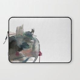 Begin: a minimal abstract mixed media piece Laptop Sleeve