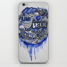 Live, Breathe, Repeat iPhone Skin