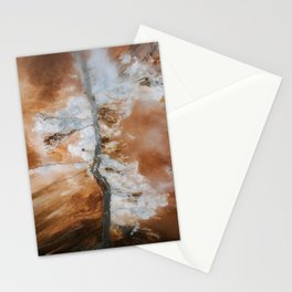 Abstract River in Iceland's Volcanic Highlands – Landscape Photography Stationery Cards