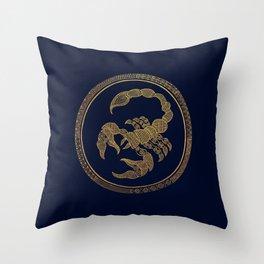Golden Zodiac Series - Scorpio Throw Pillow