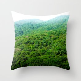 Green Hills of Hakone Throw Pillow