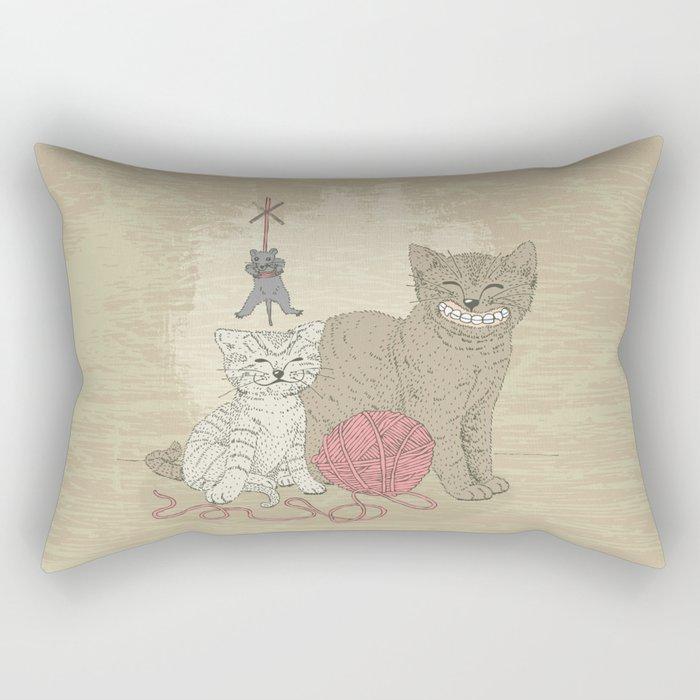Naughty Cats Rectangular Pillow