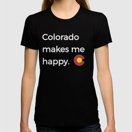 Native Colorado Gifts CO Colorado Mountains Vintage State Flag T-shirt
