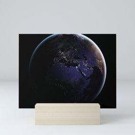 The Earth at Night 1 Mini Art Print