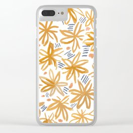 Splendid Adventure Pattern Clear iPhone Case