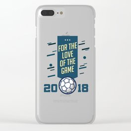 For The LOVE Of The GAME Clear iPhone Case