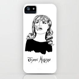 Jeanne Moreau Portrait iPhone Case