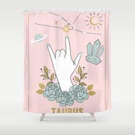 Taurus Zodiac Series Shower Curtain