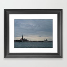Venice laguna at sundown Framed Art Print