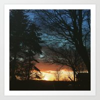 denmark Art Prints featuring Denmark Sunset. by Jason Robinette