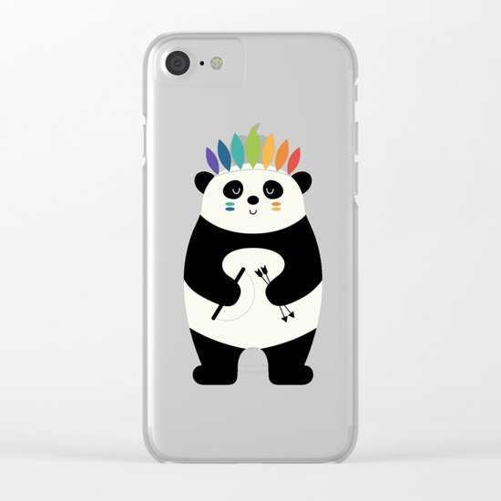 Be Brave Panda Clear iPhone Case
