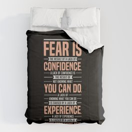 Lab No. 4 Fear Is The Result Dale Carnegie Inspirational Quotes Comforters