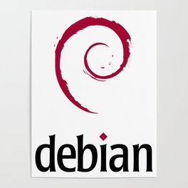 Debian Official Logo (apparel / home) Poster