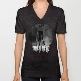 Scary Siren Head vintage meme Unisex V-Neck