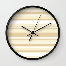 Stripes - Bamboo & Off-white Wall Clock