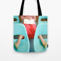reading Tote Bags featuring Reading by Kelly Nicolaisen