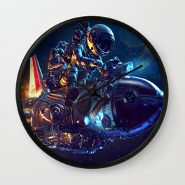 Astronaut Spaceship Wall Clock