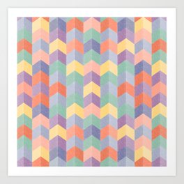 Colorful geometric blocks Art Print