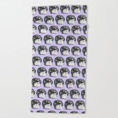 Minifigure Pattern - Violet Beach Towel