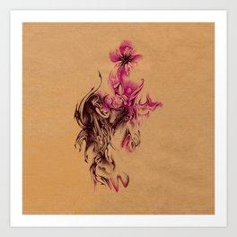 Biro flower illustration Art Print