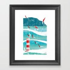 Illustre Conero - Waves Framed Art Print