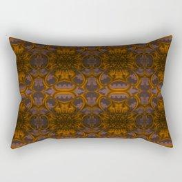 Golden Bloom Pattern Rectangular Pillow