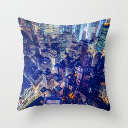 Colorful New York City Skyline Throw Pillow