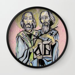 Sts Cyril and Methodius Wall Clock