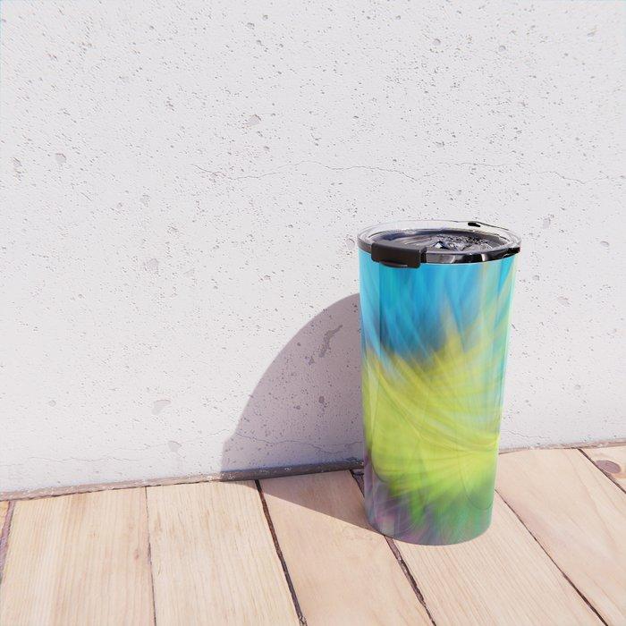 Abstract blurred light Travel Mug